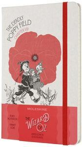 Cartoleria Taccuino Moleskine Wizard of Oz a righe Large Poppy Field. Rosso Moleskine