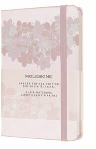 Cartoleria Taccuino Moleskine a pagine bianche Pocket Sakura. Rosa chiaro Moleskine