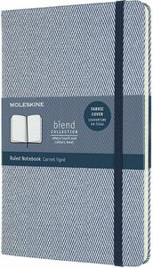 Cartoleria Taccuino Moleskine Blend 20 Large a righe Black Harringbone in tessuto. Porpora Moleskine