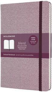 Cartoleria Taccuino Moleskine Blend 20 Large puntinato Black Harringbone in tessuto. Porpora Moleskine