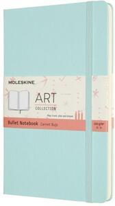 Cartoleria Taccuino Moleskine Art Bullet Large Copertina rigida Acquamarina Moleskine