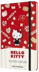 Cartoleria Taccuino Moleskine Limited Edition Hello Kitty Large Copertina Rigida A righe Rosso Moleskine