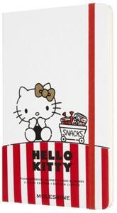 Cartoleria Taccuino Moleskine Limited Edition Hello Kitty Large Copertina Rigida A pagine bianche Bianco Moleskine