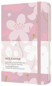Cartoleria Taccuino Moleskine Limited Edition Sakura Pocket Copertina Rigida A pagine bianche Rosa Moleskine