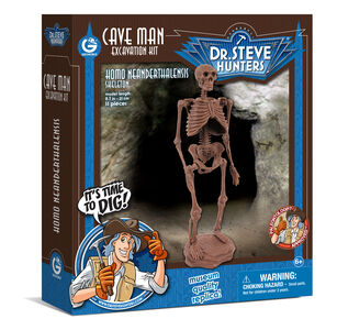 Giocattolo Cave Man Excavation Kit. Homo Neanderthalensis Skeleton Geoworld