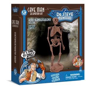 Giocattolo Cave Man Excavation Kit. Homo Neanderthalensis Skeleton Geoworld 0