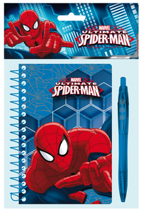 Cartoleria Spider-Man. Blister Notebook + Penna Joko