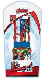 Cartoleria Avengers. Set Cancelleria 5 Pz Joko