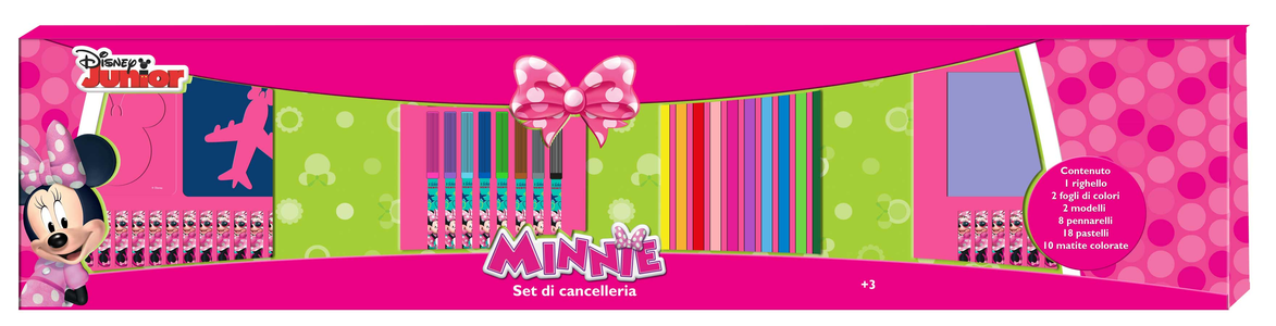 Cartoleria Minnie. Set Cancelleria 1 Metro Joko