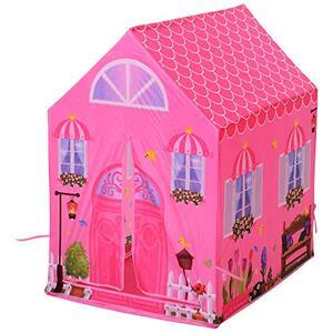 Giocattolo Tenda da Gioco Principessa per Bambina 3+ Anni per Interno e Esterno Rosa 93 x 69 x 103 cm Homcom