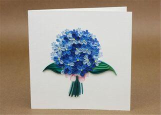 Cartoleria Biglietto Auguri Quilling Fatto A Mano Bouquet Origamo