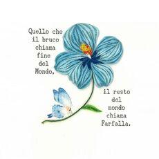 Cartoleria Biglietto Auguri Quilling Fatto A Mano Fiore Farfalla Origamo