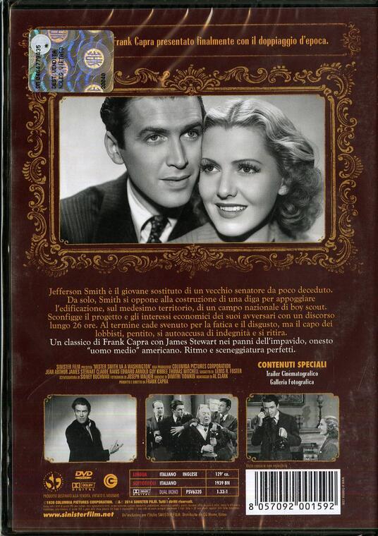 Mister Smith Va A Washington (DVD) di Frank Capra - DVD - 2