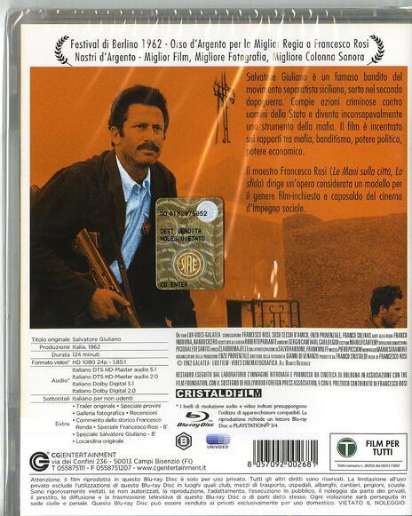 Salvatore Giuliano di Francesco Rosi - Blu-ray - 2