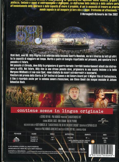 Mattatoio 5 di George Roy Hill - DVD - 2