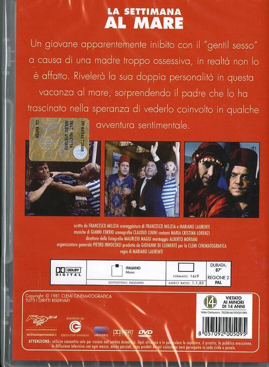 La settimana al mare di Mariano Laurenti - DVD - 2
