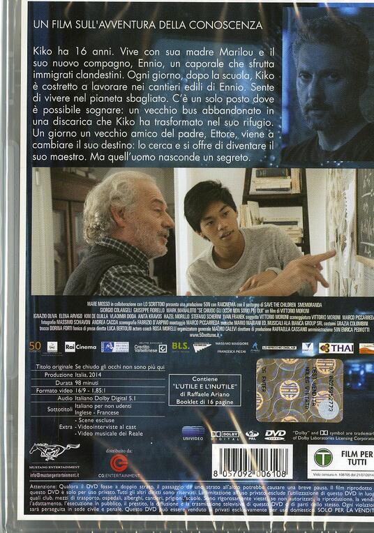 Se chiudo gli occhi non sono più qui di Vittorio Moroni - DVD - 2