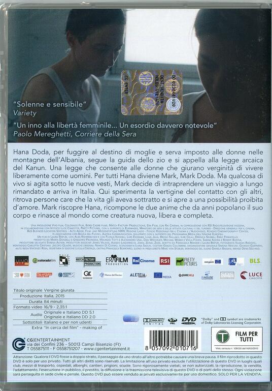 Vergine giurata di Laura Bispuri - DVD - 2