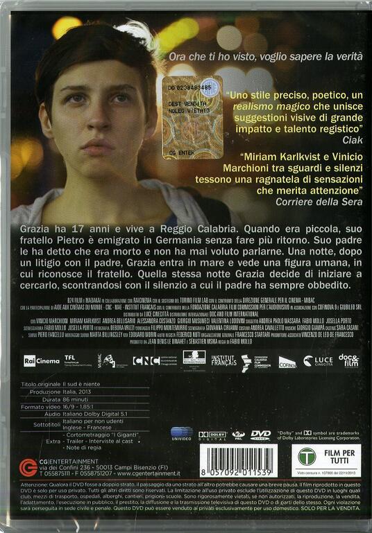 Il sud è niente di Fabio Mollo - DVD - 2