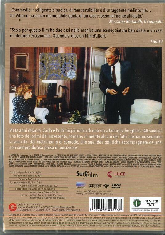 La famiglia di Ettore Scola - DVD - 2