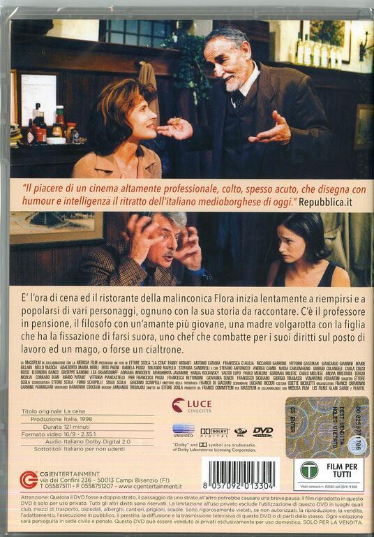La cena di Ettore Scola - DVD - 2