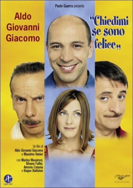 Chiedimi se sono felice di Giovanni Storti,Aldo Baglio,Giacomo Poretti,Massimo Venier - DVD