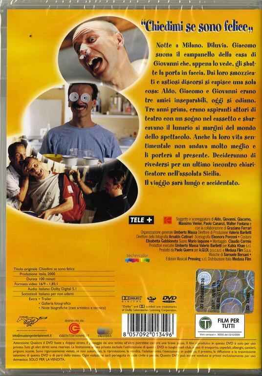 Chiedimi se sono felice di Giovanni Storti,Aldo Baglio,Giacomo Poretti,Massimo Venier - DVD - 2