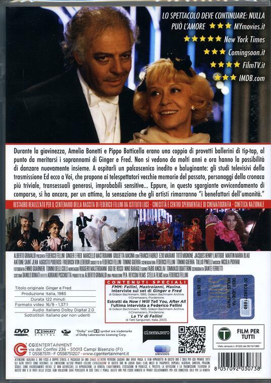 Ginger e Fred (DVD) di Federico Fellini - DVD - 2