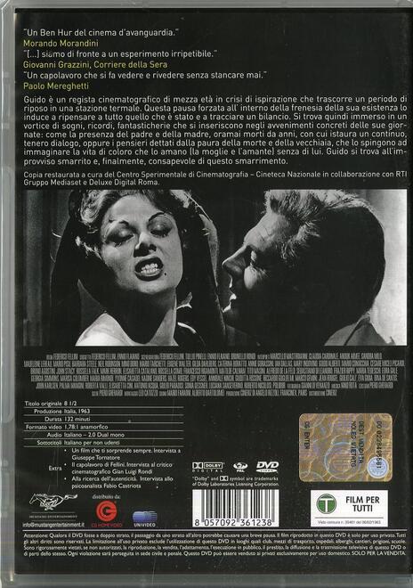 8 1/2 di Federico Fellini - DVD - 2