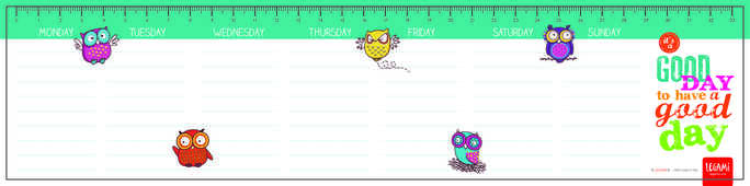 Idee regalo Planning da scrivania Smart. Owls Legami
