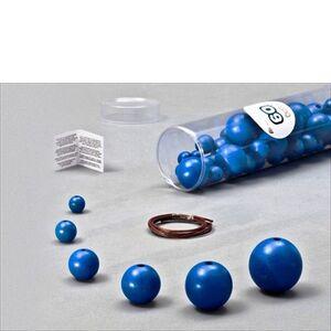 Foto di Blue Wooden Balls blu. 60 pezzi, 6 Misure, Giochi e giocattoli 0
