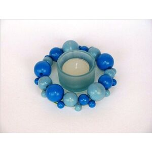 Foto di Blue Wooden Balls blu. 60 pezzi, 6 Misure, Giochi e giocattoli 1