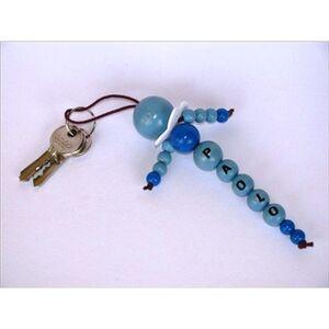 Foto di Blue Wooden Balls blu. 60 pezzi, 6 Misure, Giochi e giocattoli 2