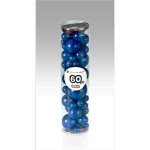 Foto di Blue Wooden Balls blu. 60 pezzi, 6 Misure, Giochi e giocattoli 5