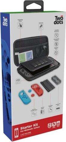 Custodia da viaggio rigida con starter kit per Nintendo Switch - Nero