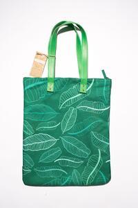 Cartoleria Bag Foglie Verdi - Realizzata con fibre di plastica riciclata Open Wor(l)ds