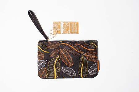 Cartoleria Zip Pocket small - Foglie marroni Open Wor(l)ds