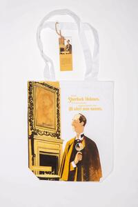 Cartoleria Borsa Shopper in Canvass OpenWorlds Lettura Sherlock Holmes Open Wor(l)ds