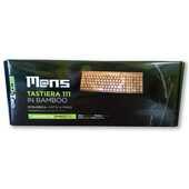 Idee regalo Tastiera alfanumerica portatile Wireless in bamboo Mans. 110 tasti Mans