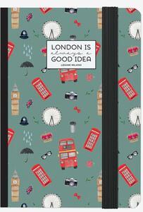 Cartoleria Taccuino a righe. Photo Notebook Small. London Legami