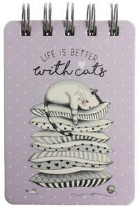 Cartoleria Taccuino Gattini con spirale a righe Legami Mini Spiral Notebook Kitten Legami
