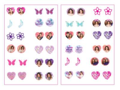 Violetta. 24 orecchini sticker
