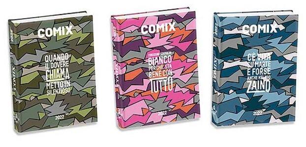 Cartoleria Superdiario Comix Flash 2021-2022, 13 mesi, assortito - 13,5 x 18,5 cm Comix