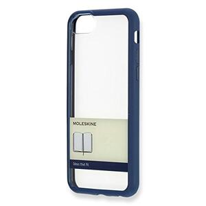 Custodia rigida Moleskine per iPhone 7 con fascetta. Blu