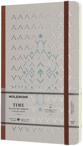 Cartoleria Taccuino Moleskine Time Limited Edition large a pagine bianche. Marrone Moleskine