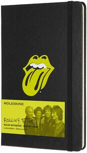 Taccuino Moleskine Rolling Stones Limited Edition large a righe. Nero