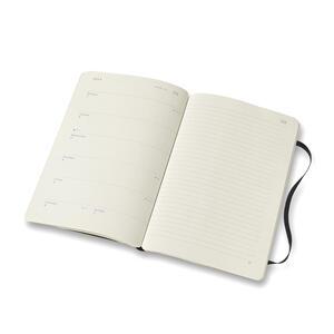 Weekly Notebook. Agenda-taccuino settimanale 2019, 12 mesi, Moleskine Smart Paper Tablet large. Nero - 3