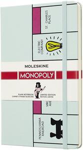 Cartoleria Taccuino Moleskine Monopoly Limited Edition large a pagine bianche. Board Moleskine