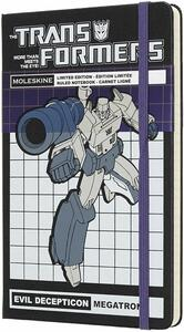 Cartoleria Taccuino Moleskine Transformers Limited Edition large a righe. Megatron Moleskine