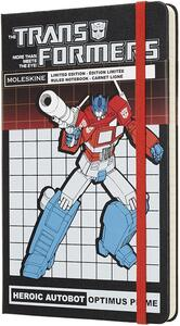 Taccuino Moleskine Transformers Limited Edition large a righe. Optimus Prime